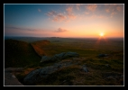 Sunset Hadrians wall